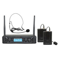 MONACOR ZZIPP SET DOPPIO RADIOMICROFONO UHF 673,30/688,90 TXZZ520