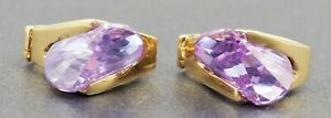 Mystic Topaz Womens Huggie Style Earrings 14ct Yellow Gold Jewelry Pierced Ears