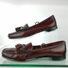 Dexter Slip on Leather Loafer Brown Moc Toe Kilt Tassle Size 11 N