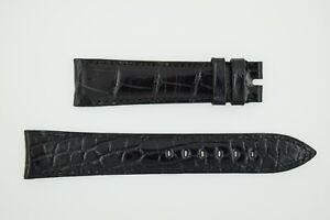 ROLEX NOS Black Leather Strap 19/16 19mm (SO806)