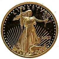 2002-W American Gold Eagle Proof (1/10 oz) $5 - Coin Only. #1