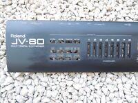 Parts Keyboard ROLAND 90' JV80 JV COQUE METAL ORIGINE Voir photos  VG CONDITION
