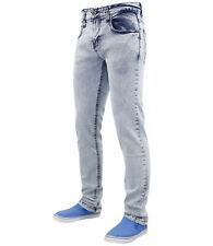 True Face Hombre Corte Slim Denim elástico Básico 5 Bolsillos Vaquero Jeans