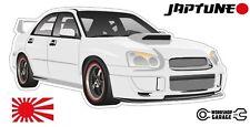 Subaru WRX Impreza   - White with Black Rims - JDM - JapTune Brand