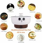 2.8L Electric Skillet with Lid Nonstick Hot Pot Noodles Rice Cooker Grill Pot photo