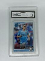2018-19 PHIL FODEN Donruss Soccer #179 Optic Rated Rookie GMA 10 Gem Mint 💎