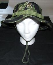 JUNGLE BOONIE HAT, TIGER STRIPE 100% COTTON RIPSTOP, R&B, SIZE 7 1/4 (MED)  NEW!