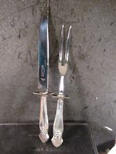 Royal Family Sterling F A Kirk Cutlers Sheffield England CARVING KNIFE & FORK