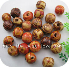FREE SHIP 50pcs Mixed Color Wood Charms Spacer Beads 13X12MM BE919