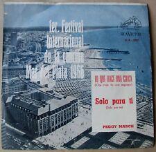 """PEGGY MARCH Che Cosa Fa Una Ragazza SUNG IN ITALIAN Argentina 7"""" PROMO PS 60s"""