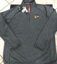 Levelwear NHL Metro Pullover Chicago Blackhawks Mens Size Large Charcoal NWT