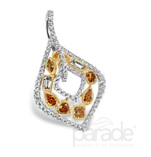 Parade Designs Reverie Pendant - 18K Two Tone w/Natural Colored Diamonds P2766A