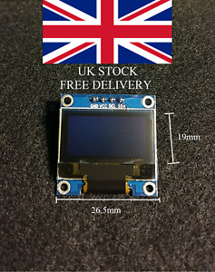 128x64 Blue I2C OLED display for Arduino or other microcontroller SSD1306