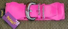 Elastic Wide Belt Leather Front Buckle Wide Stretch Belts Elegant Dress Fashion
