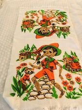 Vintage 1960's Pinocchio Bath/Beach Towel 23/40 Cannon