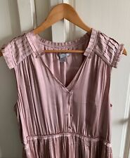 Stunning Shell Pink Satin Dress by H&M Size 16