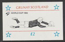 GB Locals GRUNAY 7474 - 1982 FOOTBALL WORLD CUP deluxe sheet u/mint