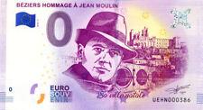 34 BEZIERS Hommage à Jean Moulin, N° de la 4è liasse, 2018, Billet 0 € Souvenir