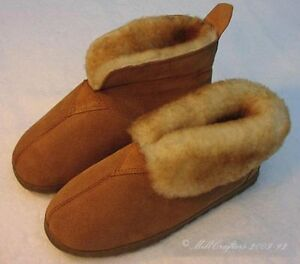 NEW WOMENS LADIES BEST COCOA SHEEPSKIN BOOTIE SLIPPERS SIZE 5 6 7 8 9 10 N975B-L