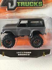 Jada 1:64JUST TRUCK 1973 FORD BRONCO  DIECAST MODEL CAR GREY 98279