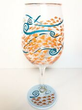 Lolita Wine Glass Hand Painted Fish Out Of Water Plastic Pool Beach Travel 16 Oz