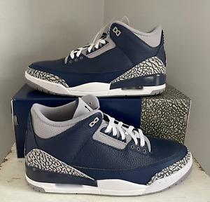 Air Jordan 3 Retro Georgetown CT8532-401 Size 10.5 11 12 13 14 Blue Cement Grey