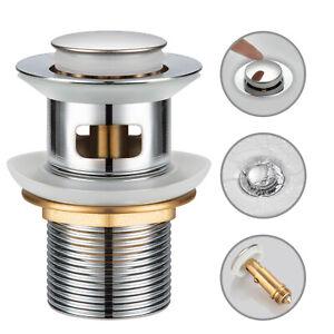 Ablaufgarnitur POP UP Ventil Ablaufventil mit Überlauf Waschtisch Waschbecken