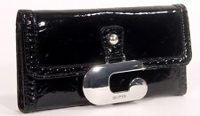 NEW Guess Ermione Shine Patent SLG Wallet Clutch Bag, Black