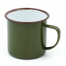 Vintage Handmade Enamel Cup Mug For Drinking Coffee Tea Camping Hiking
