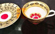 Yayoi kusama Cup and saucer New LIMITED EDITION 10th anniversary Art china F/S