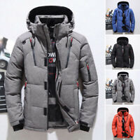 Men's Winter Warm Thick Padded Parka Coat Overcoat Casual Hooded Outwear Jacket