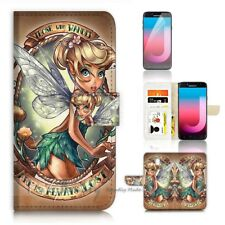 ( For Samsung J7 Pro ) Wallet Case Cover P21066 TinkerBell