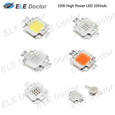 10 W Watts Alta Potencia SMD LED de luces de Chip Perlas Blanco chip-on-board Rojo Azul Placa de lámpara UV