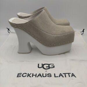 UGG X ECKHAUS LATTA BOOGIE PLATFORM BONE WHITE SHOE US 9 / EU 40 / UK 7 -LTD ED