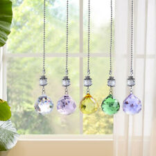 Set 5 Rainbow Ornament Suncatcher Crystal Colorful Ball Hanging Holiday Decor