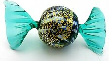 Vintage Murano Hand Blown Art Glass Crimped Wrap Candy Display Piece Size 3 1/2""
