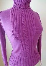 Victoria's Secret Women's Turtleneck Sweater  Size SX Purple  Knitted