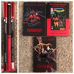 Spider-Man McFarlane Premier HC Set - Torment Perceptions DM Masques 1 2 3 16