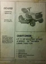 Sears Craftsman LT/11 4/36 Riding Lawn Tractor & Mower Owner & Parts Manual 52pg