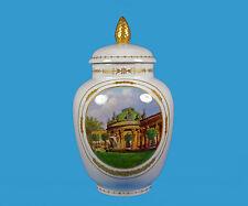 Kpm Berlín para 1915 tapa jarrón con finamente pintadas vista de castillo Sanssouci
