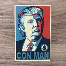 "Donald Trump Con Man 4"" Tall Vinyl Sticker - Bogo"