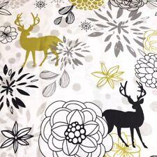 Lime Green Deers 100% Cotton Fabric. Price per 1/2 metre