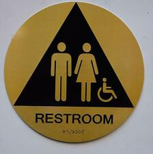 New listing Unisex Accessible Restroom Ca 128-Ada-Gold (Gold/Black,Size q12) .(ref1820)