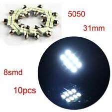 10PC 31mm 5050 8SMD DE3021 CANBUS Error Free White LED Bulb Interior Dome Lights