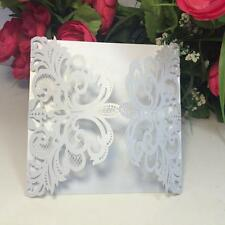 20 Laser Cutting Floral Wedding Invitation Cards Free Seals Kit EP8J
