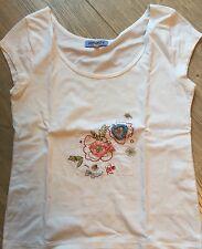 Tee-shirt Fille Blanc KENZO avec Fleurs Brodées Taille 12 Ans