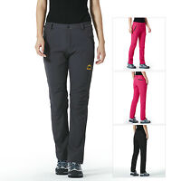 Women Quick Dry Wicking Fleeced Pants Outdoor Windproof Hiking Camping Trousers