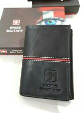 Swiss military  Mens tri fold genuine leather  Wallet