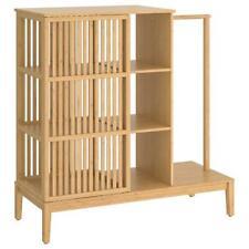IKEA Schlafzimmerschrank Kleiderschrank offen/Schiebetür, Bambus, 120x123 cm