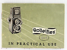 Original Rolleiflex 4 x 4 Instruction Manual - 34 pages, printed December 1957